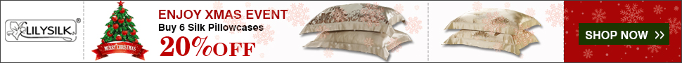 xmaspillowcase by LilySilk Mulberry Silk Bedding
