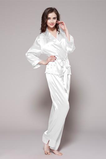 ensemble pyjama en soie luxueuse 22 momme pour femme. Black Bedroom Furniture Sets. Home Design Ideas