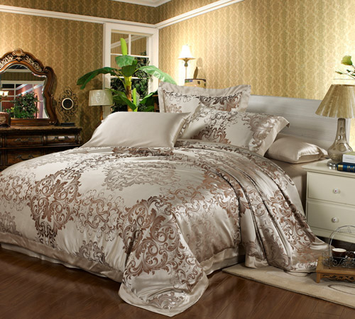 housse de couette en soie jacquard alina 22 momme sans couture. Black Bedroom Furniture Sets. Home Design Ideas