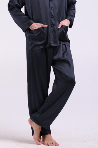 pantalon de pyjama classique en soie de luxe pour homme. Black Bedroom Furniture Sets. Home Design Ideas