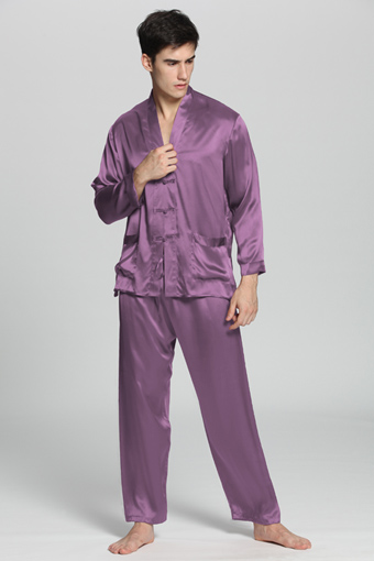 pyjama en soie avec boutons exotiques homme. Black Bedroom Furniture Sets. Home Design Ideas