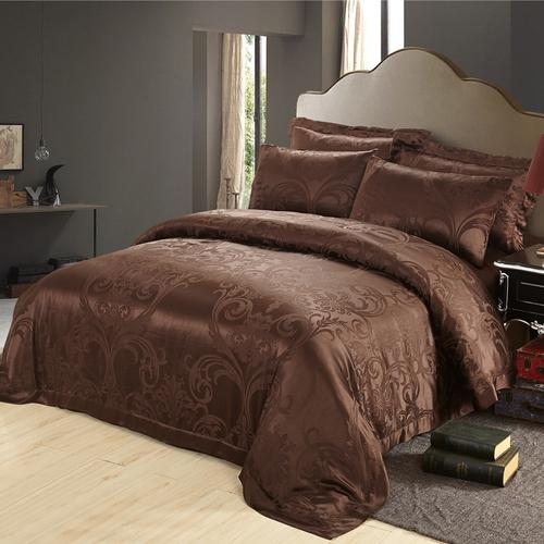 housse de couette en soie jacquard cymbidium 19 momme lilysilk. Black Bedroom Furniture Sets. Home Design Ideas