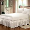Ivory Silk Bed Valance