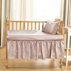 Apricot Silk Crib Bedding Set