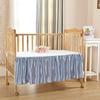 Light Blue Silk Cot Bed Linen Set