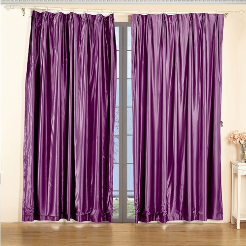 Violet Silk Curtain