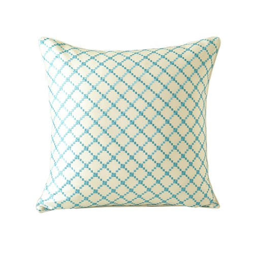 Bright Blue Silk Pillow Cover