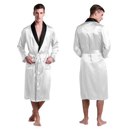 White Silk Dressing Gown