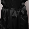 Black Women Silk Robe