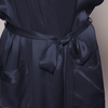 Navy Blue Women Silk Dressing Gown