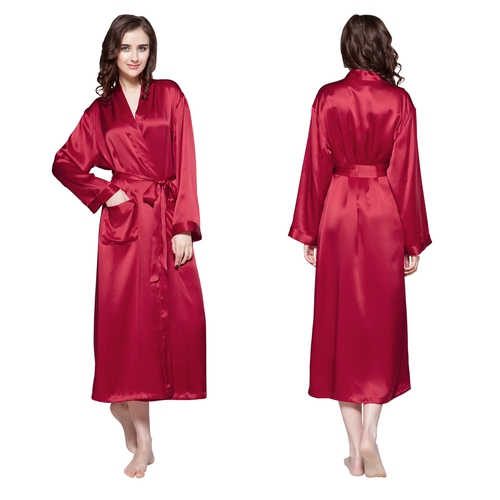 Claret Women Silk Robe