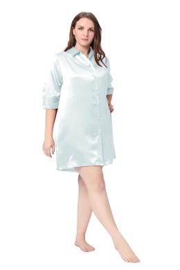 Plus Size Silk Nightgown
