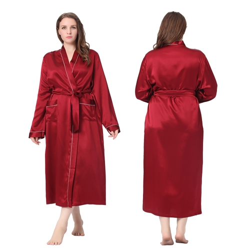Claret Plus Size Robe