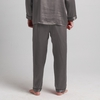 Dark Gray Men Silk Pants