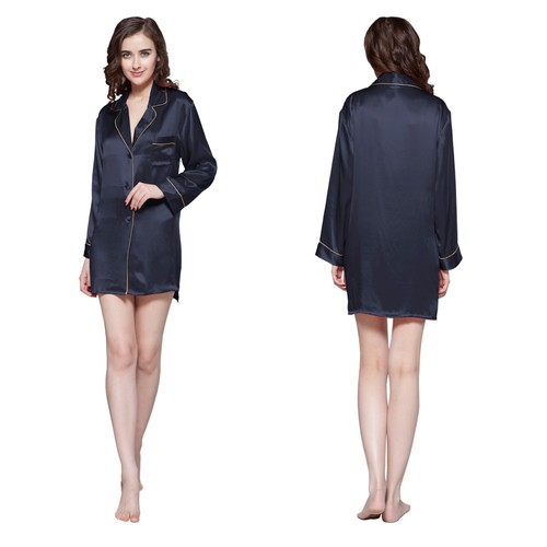 Azul Marino women silk nightshirt