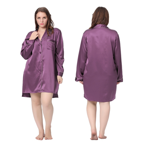 Violet Plus Size Silk Nightgown