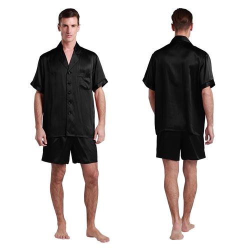 Black Men Silk Pyjamas