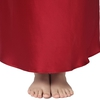 Claret Plus Size Silk Nightgown