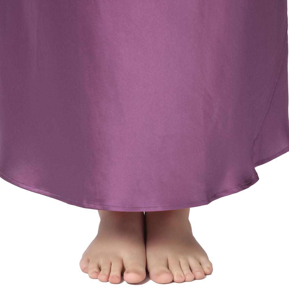 Para Mujer Pijama seda largo camisón lilysilk Bata Elegante Talla ...