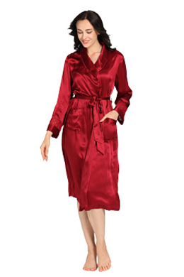 Women Silk Dressing Gown