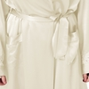 Beige Plus Size Silk Robe