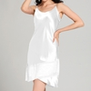 White تنورة النوم من الحرير