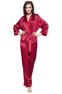 women silk pajamas