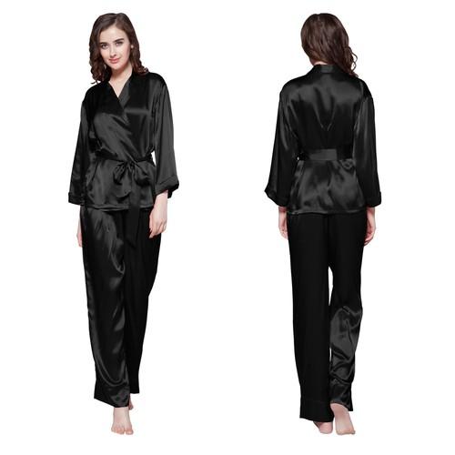 Black Women Silk Pajama