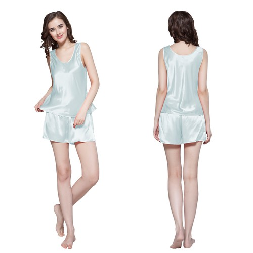 Light Sky Blue Women Silk Camisole