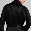 Black Men Silk Robe