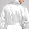 White Men Silk Dressing Gown
