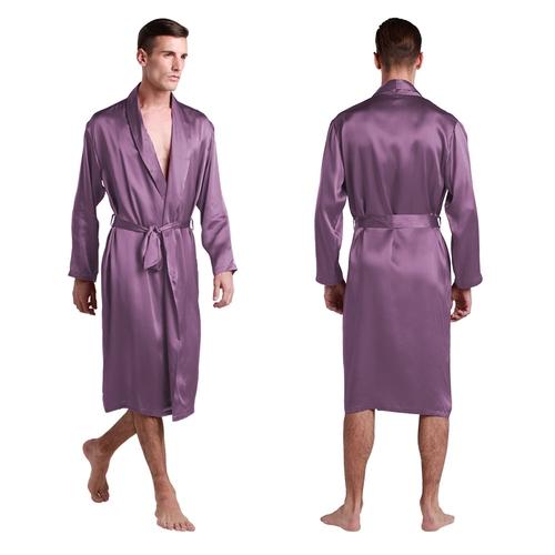 Long Silk Dressing Gown