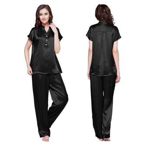 Black Women Silk Pyjamas
