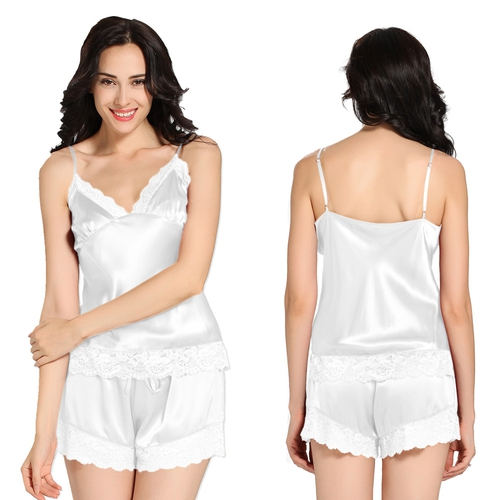 White Women Silk Camisole