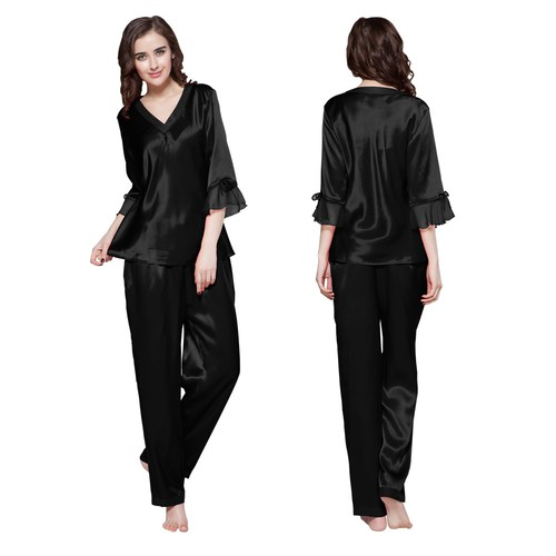 Beige Women Silk Pyjamas