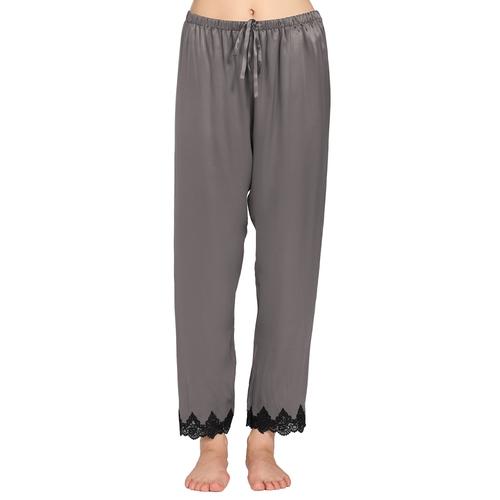 Gris Oscuro Pantalón De Pijama Seda