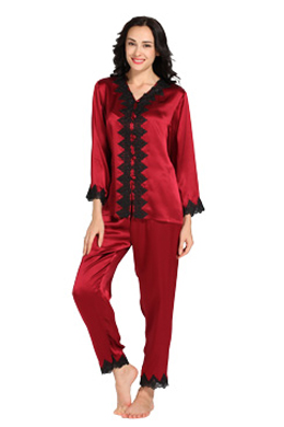 women silk pajamas