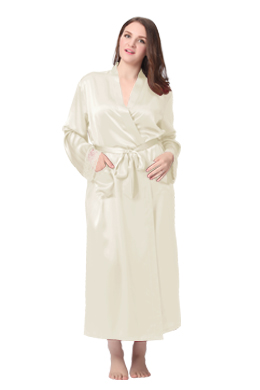 Plus Size Silk Robe