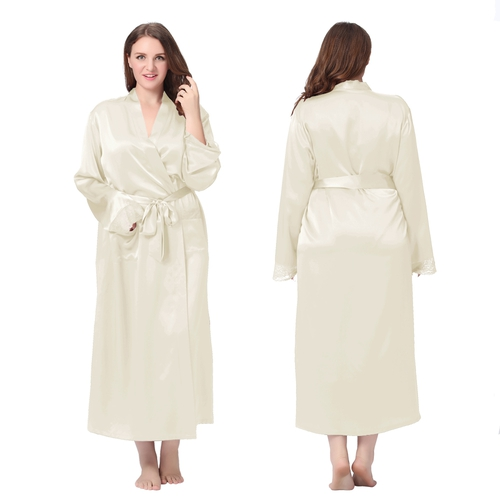 Beige Plus Size Dressing Gown
