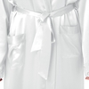 White Plus Size Silk Robe