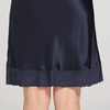 Navy Blue Women Silk Nightgown