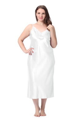 Plus Size Silk Nightgown
