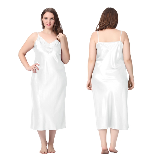 White Plus Size Nightdress