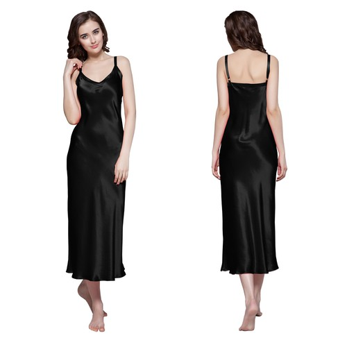 Black Silk Dressing Gown