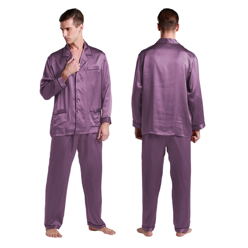Mens Silk Dressing Gown