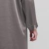 Dark Gray Men Silk Dressing Gown