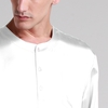 White Men Silk Nightshirt