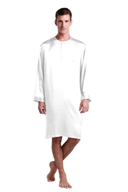 Men Silk Nightshirt