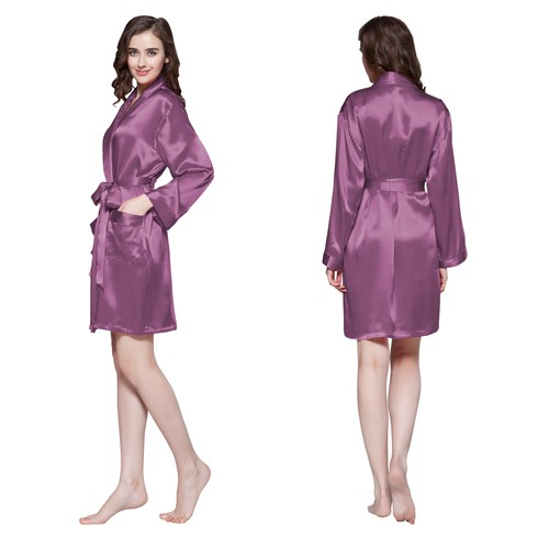 Violet Women Silk Robe