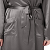 Dark Gray Plus Size Dressing Gown
